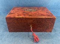 19th Century  French Burr Cedar Jewellery Box (7 of 11)