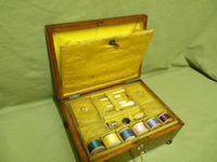 Regency Rosewood Jewellery / Sewing Box - Original Tray + Accessories c.1820 (6 of 15)