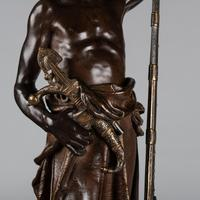 Magnificent 19th Century French Bronze Sculpture of Arabian Sentinel, Signed J.Angles (14 of 19)