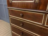 Early 19th Century Brass Mounted Flame Mahogany Linen Press (5 of 21)