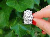 4.84ct Diamond & Platinum Dress Ring - Art Deco - Antique French c.1920 (2 of 9)