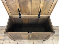 Vintage Oak Panel Blanket Box or Coffer Chest (14 of 15)