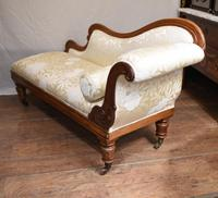 Regency Chaise Longue Sofa Walnut Lounge Day Bed (4 of 25)