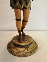 A pair of unusual 19th century cold painted figures of jesters (3 of 18)