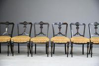 6 Victorian Aesthetic Movement Dining Chairs (6 of 13)