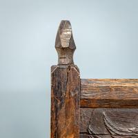 Carved Oak Bench (7 of 9)