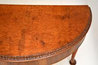 Queen Anne Style Burr Walnut Console Table (8 of 8)