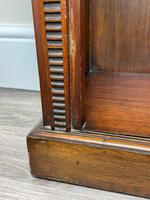 English Small Regency Style Dwarf Recessed Mahogany Open Bookcase (13 of 44)