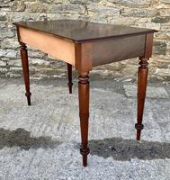 Antique Victorian Mahogany Two Drawer Side Table (11 of 20)
