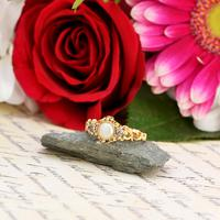 The Antique Victorian 1862 Pearl & Rose Cut Ornate Diamond Ring (7 of 8)