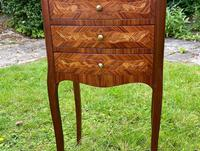 Pair of French Marquetry Bedside Tables in Kingwood (3 of 9)