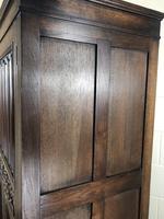 Early 20th Century Antique Oak Linenfold Hall Cupboard (9 of 13)