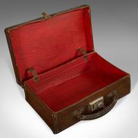 Antique Suitcase, English, Leather, Travelling Sample Case, Edwardian c.1910 (10 of 10)