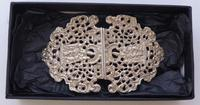 Victorian 1899 Maternity Hallmarked Solid Silver Nurses Belt Buckle (2 of 9)
