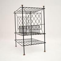 1960's Vintage Steel & Copper Record Rack / Table (3 of 8)