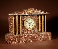 Grand Tour Style Very Decorative French Gilded Brass & Marble Clock Garniture (2 of 14)