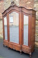Large Carved Oak French Armoire / Wardrobe (3 of 17)