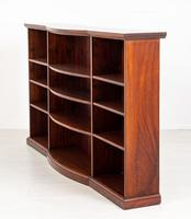 Victorian Mahogany Triple Open Bookcase (4 of 8)