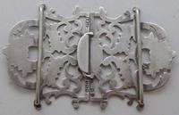 Edwardian Birmingham 1911 Hallmarked Solid Silver Nurses Belt Buckle (5 of 8)