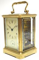 Good Antique French 8-day Carriage Clock Bevelled Case with Bell Alarm Feature (5 of 13)