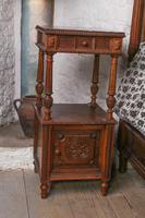 Impressive and beautiful large king size carved walnut bed & matching bedsides (13 of 13)