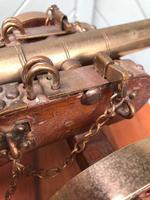 Antique Oak & Brass Miniature Cannon (9 of 10)