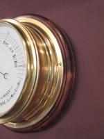 Antique Brass Bulkhead Marine Barometer (4 of 6)