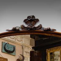 Antique Overmantel Mirror, English, Walnut, Glass, Hall, Victorian, Circa 1860 (4 of 9)