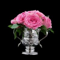 Georgian Solid Silver Loving Cup / Two Handled Cup - London 1748 (3 of 28)