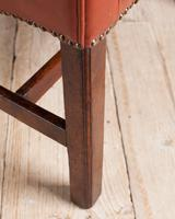 George III Mahogany & Leather Wing Armchair (8 of 9)