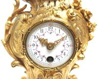 Antique 8 Day Ormolu Mantel Clock Set Cherubs At Play 8 Day Mantle Clock (4 of 11)