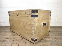 Antique Large Rustic Pine Trunk (6 of 10)