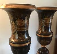Large Pair  of Japanese Chinoiserie Urns (7 of 8)