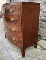 Regency Flame Mahogany Bow Front Chest of Drawers (7 of 17)