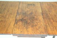 Antique Rustic Small Mahogany Drop Leaf Table (7 of 11)
