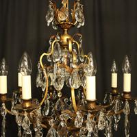 French Gilded Bronze & Crystal Chandelier (10 of 10)