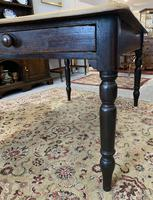 Antique Victorian Pine Farmhouse Table with Drawer (10 of 16)