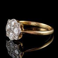 Art Deco Diamond Cluster Ring 18ct Gold Platinum Circa 1920 (5 of 6)