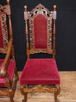 Set Antique Oak Dining Chairs - Farmhouse Kitchen Diners 1880 (11 of 11)