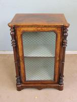 Antique Victorian Burr Walnut Display Cabinet (5 of 9)