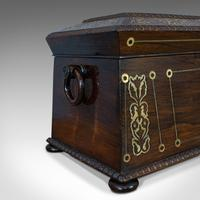 Antique Tea Caddy, English, Rosewood, Chest, Thomas of London, Regency c.1820 (6 of 12)