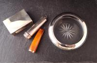 Antique cigar smokers set, silver, Amber and gold (9 of 11)