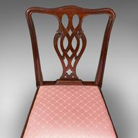 8 Antique Chippendale Revival Chairs, English, Mahogany, Dining Seat, Victorian (9 of 12)