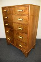 Lovely Walnut Art Deco Chest of Drawers (10 of 11)