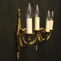 French Pair of Twin Arm Antique Wall Lights (10 of 10)