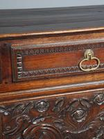 Antique Northern French Carved Oak Side Cabinet (8 of 15)