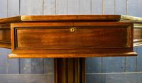 19th Century Mahogany Library Table. Drum or Rent Table (8 of 9)