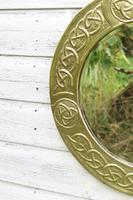 Arts & Crafts Movement Scottish / Glasgow School Circular Wall Mirror c.1900 (7 of 24)