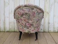 Antique Napoleon III Tub Armchair for re-upholstery (4 of 8)