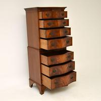 Antique Mahogany Serpentine Chest on Chest (3 of 12)